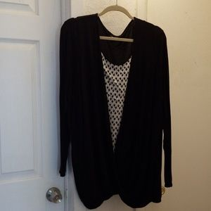 Coldwater Creek long-sleeved blouse, 2-piece look